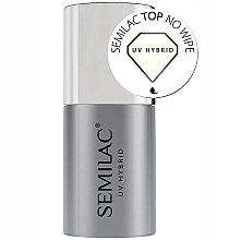 Parfumuri și produse cosmetice Top coat pentru oja semipermanentă - Semilac UV Hybrid No Wipe