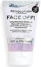 Parfumuri și produse cosmetice Mască-peeling pentru față - Revolution Skincare Face Off! Holographic Sparkle Peel Off Face Mask