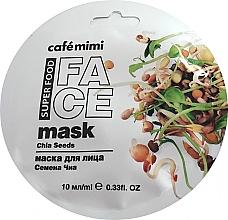 """Parfumuri și produse cosmetice Mască de față """"Semințe de chia"""" - Cafe Mimi Face Mask"""