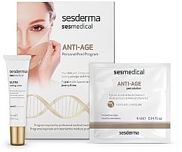 Parfumuri și produse cosmetice Peeling anti-îmbătrânire pentru față - Sesderma Sesmedical Anti-Age Personal Peel Program (cr/15ml + wipe/4x4ml)