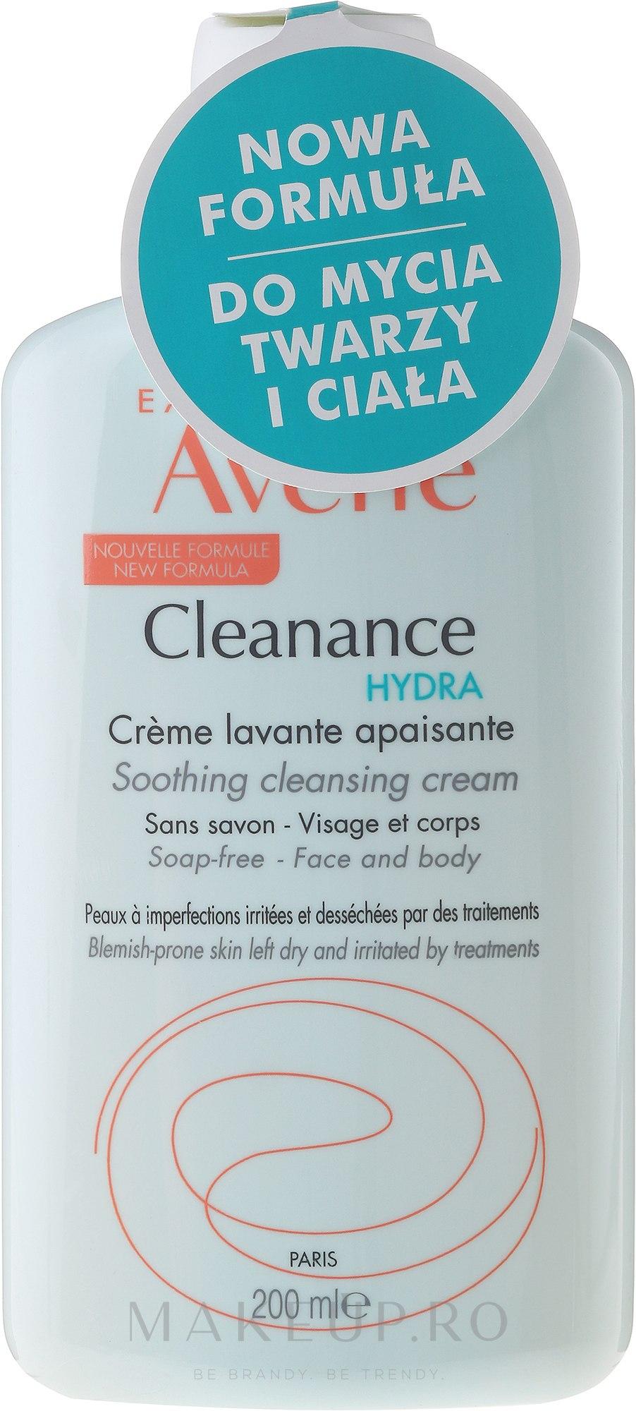 Cremă de față - Avene Cleanance Hydra Soothing Cleansing Cream — Imagine 200 ml