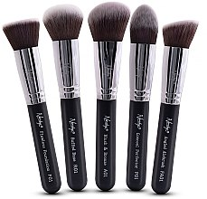 Parfumuri și produse cosmetice Set pensule pentru machiaj - Nanshy Face Brush Set Black (Brush/5 buc.)