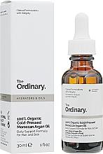 Parfumuri și produse cosmetice Ulei organic de argan marocan, presat la rece - The Ordinary 100% Organic Cold-Pressed Moroccan Argan Oil