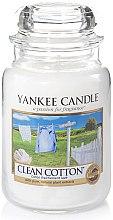 Lumânare aromată, în borcan - Yankee Candle Clean Cotton — Imagine N2