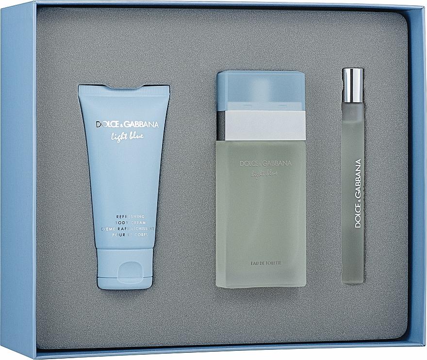 Dolce & Gabbana Light Blue - Set (edt/50ml + b/cr/50ml + edt/10ml) — Imagine N3