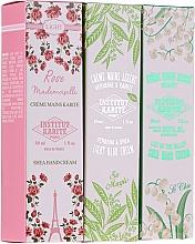 Parfumuri și produse cosmetice Set cremă de mâini - Institut Karite Travel Hand Cream Set (h/cream/3x30ml)