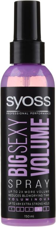Spray pentru aranjarea părului - Syoss Big Sexy Volume Blow Dry Spray