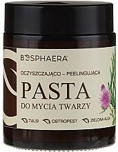 Parfumuri și produse cosmetice Peeling-pastă cu alge verzi de curățare pentru față - Bosphaera