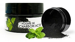 """Parfumuri și produse cosmetice Praf pentru albirea dinților """"Mentă"""" - Keeth Mint-flavoured Activated Charcoal Bleaching Powder"""