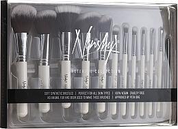 Parfumuri și produse cosmetice Set pensule pentru machiaj - Nanshy Masterful Collection Pearlescent White (Brush/15)