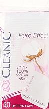 """Parfumuri și produse cosmetice Discuri din bumbac """"Pure Effect"""", 50 buc. - Cleanic Face Care Cotton Pads"""