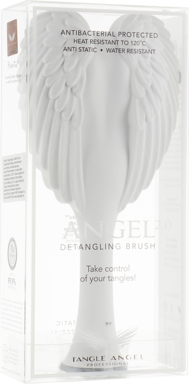 Perie de păr - Tangle Angel 2.0 Detangling Brush White/Grey