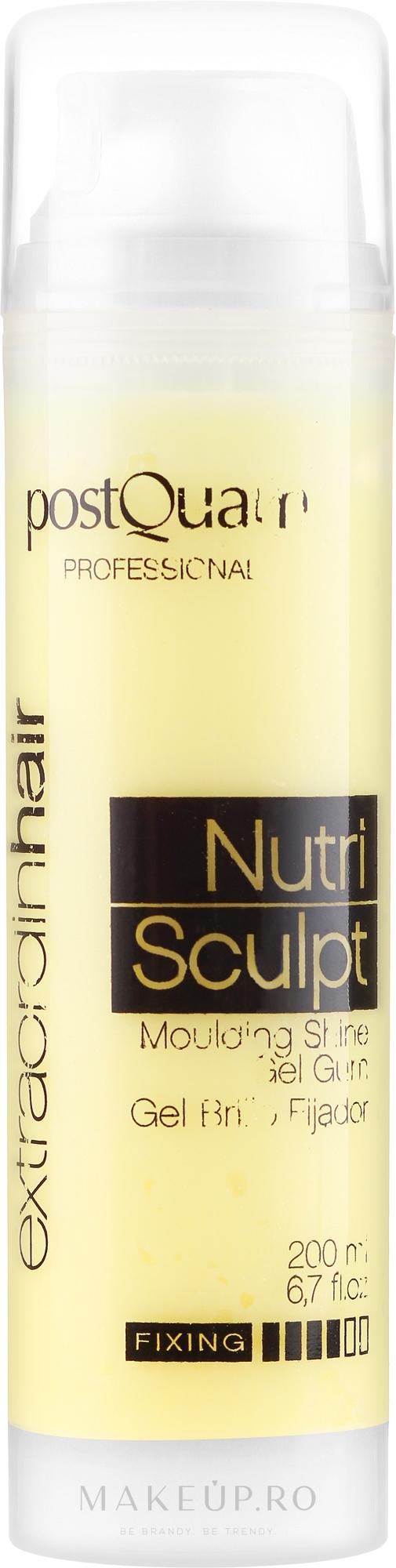 Gel-sclipici pentru păr - PostQuam Extraordinhair Nutri Sculpt Moduling Shine Gel Gum — Imagine 200 ml