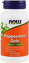 Parfumuri și produse cosmetice Mentă, capsule - Now Foods Peppermint Gels