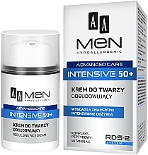 Parfumuri și produse cosmetice Cremă regenerantă pentru față - AA Men Advanced Care Intensive 50+ Face Cream Rebuilding