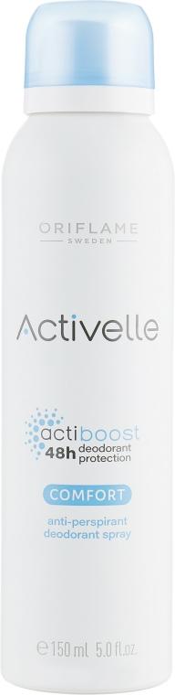 Spray antiperspirant - Oriflame Activelle Actiboost Comfort Anti-Perspirant Deodorant Spray — Imagine N1