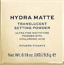Parfumuri și produse cosmetice Pudră de față - Makeup Revolution Pro Hydra Matte Translucent Setting Powder