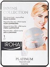 Parfumuri și produse cosmetice Mască de față - Iroha Divine Collection Platinum & Hyaluronic Acid