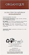 "Ulei esențial ""Rozmarin"" - Organique Natural Essential Oil Rosemary — Imagine N3"