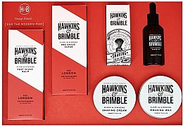 Parfumuri și produse cosmetice Set - Hawkins & Brimble Set (scr/125ml+asb/125ml+br/oil/50ml+sh/cr/100ml+wax/100ml+sh/brush)