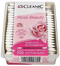 Parfumuri și produse cosmetice Bețișoare din bumbac cu ulei de trandafir japonez - Cleanic Rose Beauty Cotton Buds