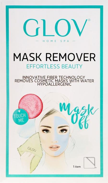 Mănușă de curățare pentru față, roz - Glov Mask Remover  — Imagine N1