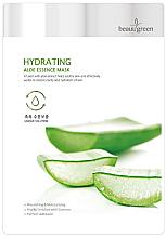 Parfumuri și produse cosmetice Mască de țesut cu extract de suc de aloe - BeauuGreen Hydrating Aloe Essence Mask