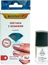 Parfumuri și produse cosmetice Întăritor 10 în 1 pentru unghii - Kosmed Silk Nail Conditioner
