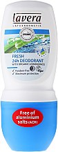 Parfumuri și produse cosmetice Deodorant roll-on - Lavera Fresh 24h Deodorant With Organic Lemobgrass