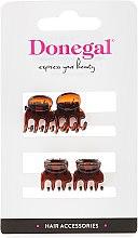 Parfumuri și produse cosmetice Set agrafe pentru păr FA-5819, mini, maro, 4 buc. - Donegal Hair Clip