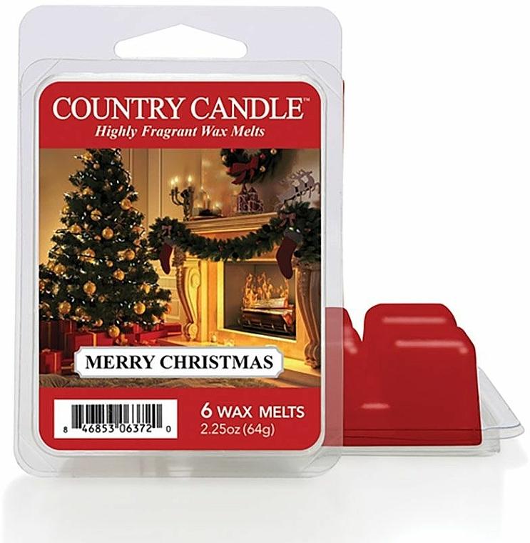 Ceară pentru lampă aromatică - Country Candle Merry Christmas Wax Melts — Imagine N1