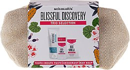 Parfumuri și produse cosmetice Set - Schmidt's Blissful Discovery (toothpaste/100ml + deo/58ml + soap/142g + bag)