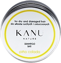Parfumuri și produse cosmetice Șampon pentru păr uscat și deteriorat, cutie matalică - Kanu Nature Shampoo Bar Pina Colada For Dry And Damaged Hair