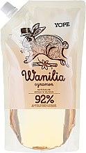 "Parfumuri și produse cosmetice Săpun lichid ""Vanilie"" (doy pack) - Yope Vanilla & Cinnamon Natural Liquid Soap Refill Pack"