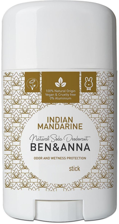"Deodorant stick ""Indian Mandarine"" - Ben & Anna Natural Soda Deodorant Indian Mandarine"