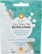 """Parfumuri și produse cosmetice Pastă de dinți în tablete cu fluor """"Mint"""" - Ben&Anna Mint Toothpaste Tablets With Fluoride"""