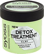 Mască de detoxifiere cu argilă pentru păr - Syoss Detox Treatment Clay — Imagine N1