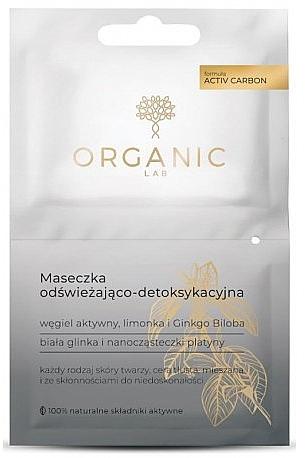 Mască răcoritoare și detoxifiantă de față - Organic Lab Refreshing And Detoxifying Mask — Imagine N1