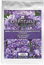 """Parfumuri și produse cosmetice Mască pentru pielea din jurul ochilor """"Rozmarin"""" - Orientana Eye Silk Pad Rosemary"""