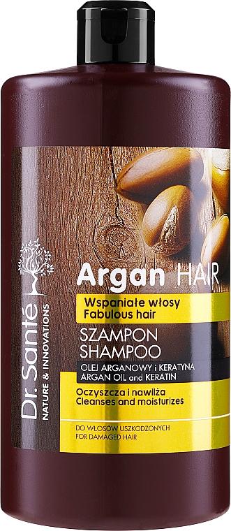 """Șampon de păr, cu ulei de argan și keratină """"Hidratant"""" - Dr. Sante Argan Hair"""