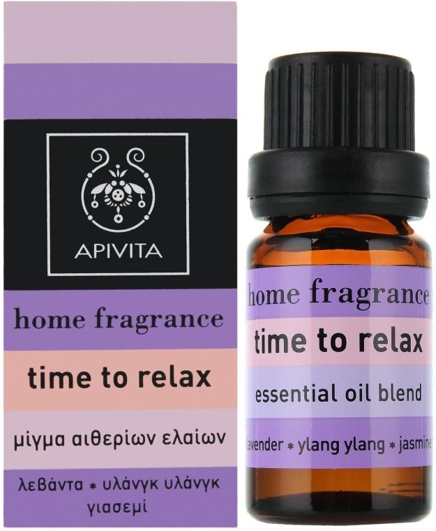"Compoziție de uleiuri esențiale ""Relaxare"" - Apivita Aromatherapy Essential Oil Time to Relax  — Imagine N1"