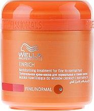 Parfumuri și produse cosmetice Mască hidratantă pentru păr fin - Wella Professionals Enrich Moisturizing Treatment