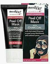 Parfumuri și produse cosmetice Mască exfoliantă cu cărbune - Derma V10 Deep Cleansing Peel Off Charcoal Mask