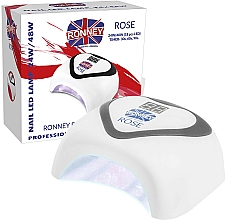 Parfumuri și produse cosmetice Lampă LED, argintie - Ronney Professional Rose LED 24W/48W (GY-LED-035) Lamp
