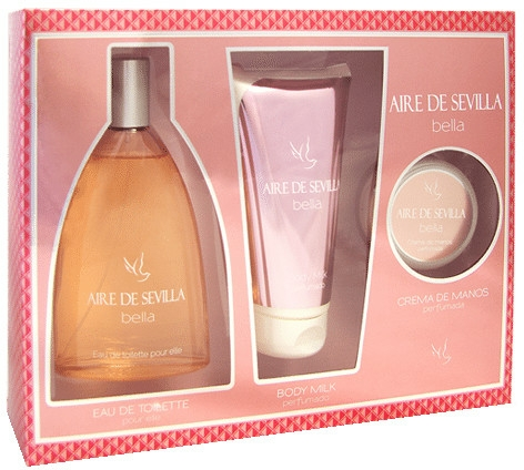 Instituto Español Aire de Sevilla Bella - Set (edt/150ml + b/milk/150ml + hand/cr/50ml)