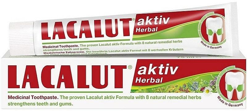 Pastă pentru întărirea dinților și gingiilor - Lacalut Aktiv Herbal Toothpaste