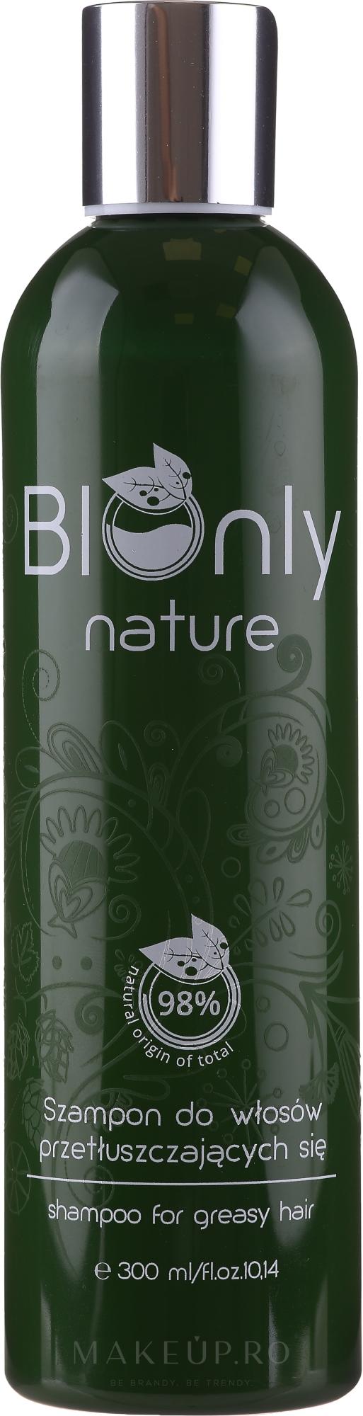 Șampon pentru păr gras - BIOnly Nature Shampoo For Greasy Hair — Imagine 300 ml