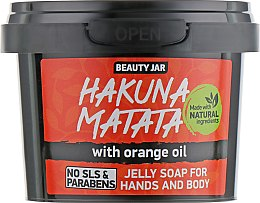 "Parfumuri și produse cosmetice Săpun ""Hakuna Matata"" - Beauty Jar Jelly Soap For Hands And Body"