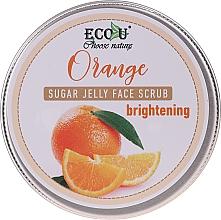 Parfumuri și produse cosmetice Scrub iluminator cu jeleu de zahăr și portocale pentru față - Eco U Orange Brightening Sugar Jelly Face Scrub