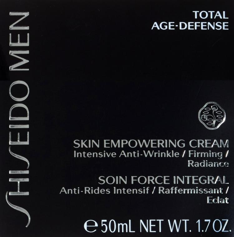 Cremă regenerantă pentru față - Shiseido Men Skin Empowering Cream — Imagine N3